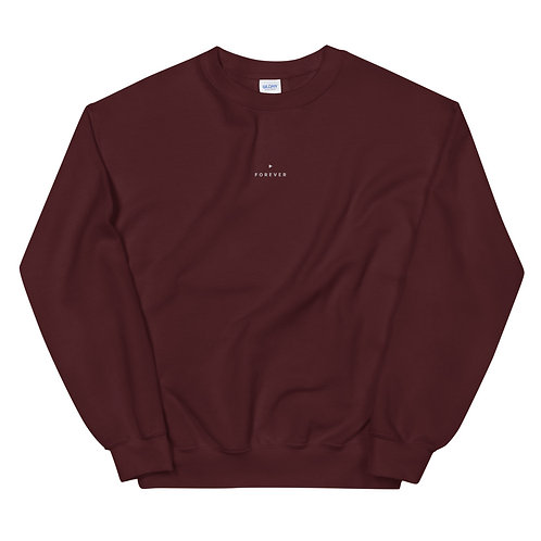 Embroidered Forever Play Sweatshirt - Maroon
