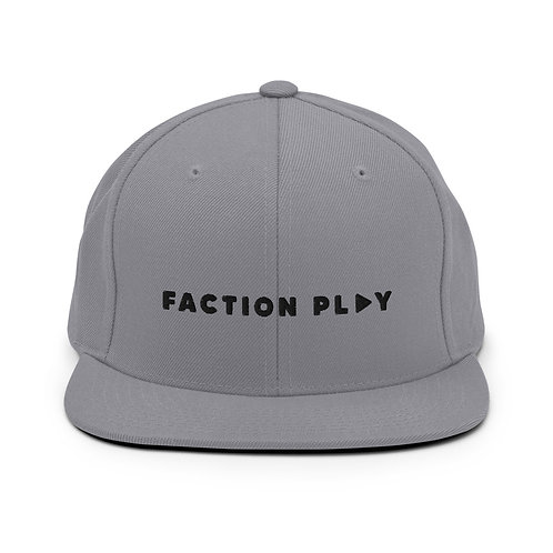 Faction Play Snapback Hat - Silver