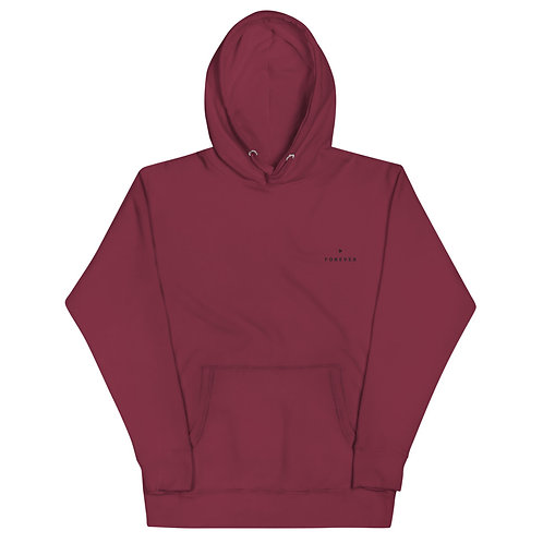 Embroidered Play Forever Hoodie - Maroon