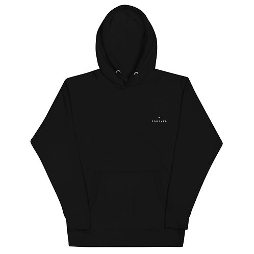Embroidered Play Forever Hoodie - Black