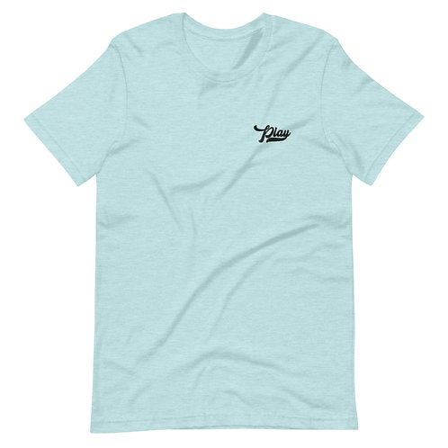 Play Essential Embroidered Tee - Prism Blue