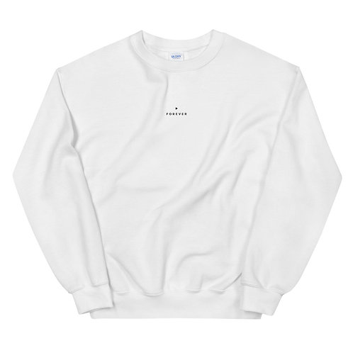Embroidered Forever Play Sweatshirt - White
