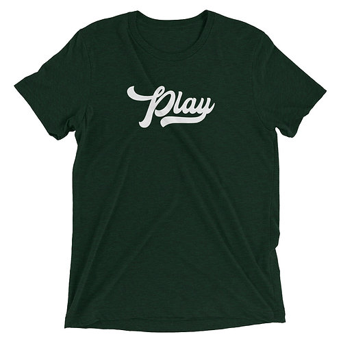 Play Collection Tee - Emerald Fleck Tri Blend
