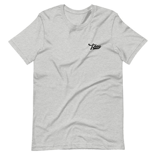 Play Essential Embroidered Tee - Athletic Heather