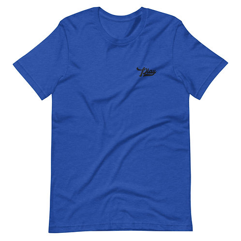 Play Essential Embroidered Tee - Heather True Royal