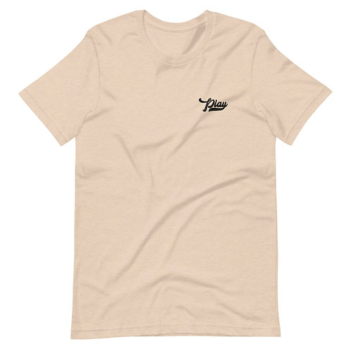 Play Essential Embroidered Tee - Heather Dust