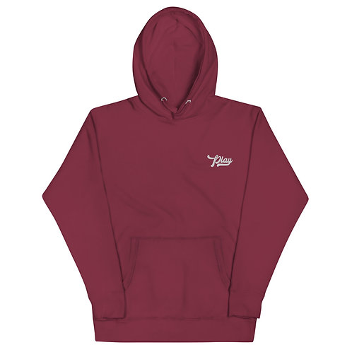 Play Essential Embroidered Hoodie - Maroon