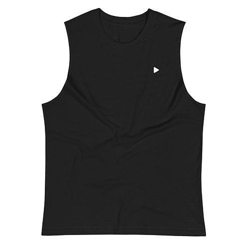 Play Symbol Muscle Shirt - Black