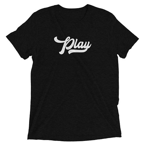 Play Collection Tee - Black Fleck Tri Blend