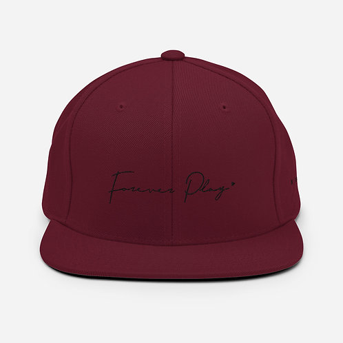 Forever Play Cursive - Maroon