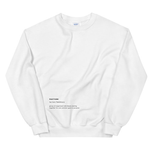 """Faction"" Definition Sweatshirt - White"