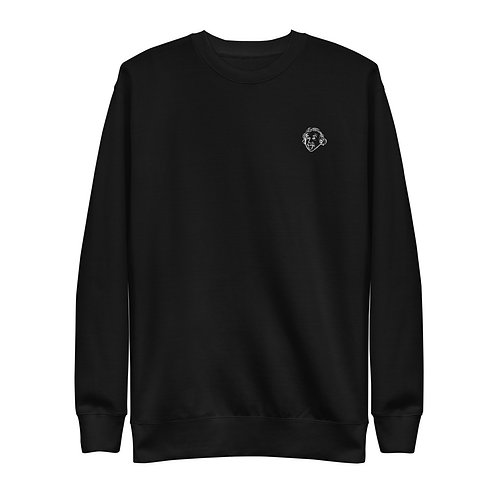 Einstein Play Unisex Sweatshirt - Black