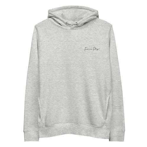 Embroidered Cursive Forever Play Hoodie - Light Gray