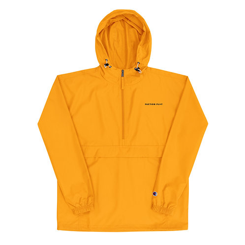Faction Play Embroidered Champion Jacket - Yellow