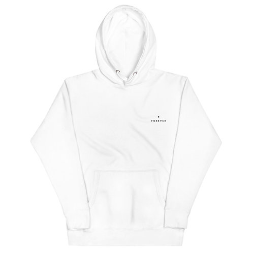 Embroidered Play Forever Hoodie - White
