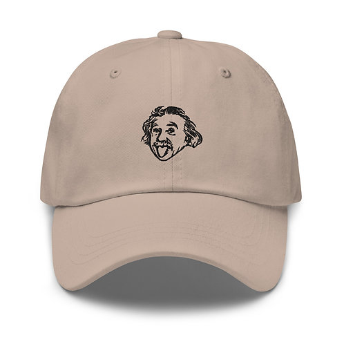 Einstein Head Dad Hat - Stone