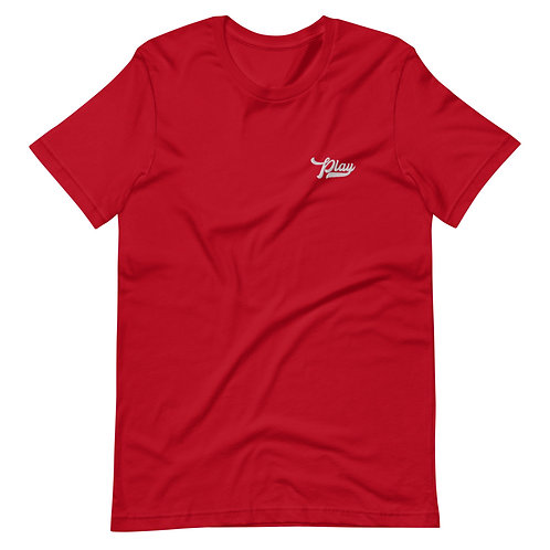 Play Essential Embroidered Tee - Red