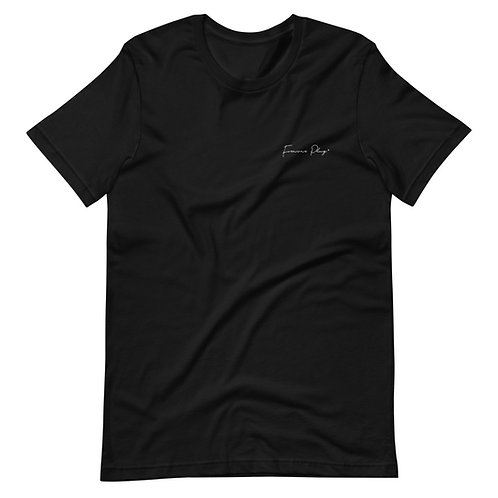 Embroidered Cursive Forever Play Tee - Black