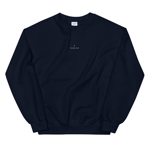 Embroidered Forever Play Sweatshirt - Navy