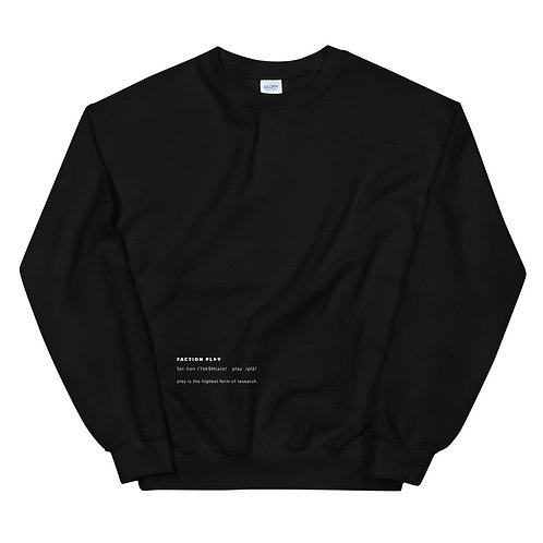 """Faction Play"" Definition Sweatshirt - Black"