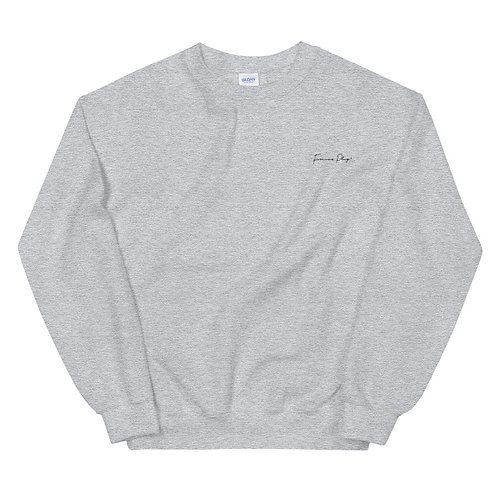 Embroidered Cursive Forever Play - Gray