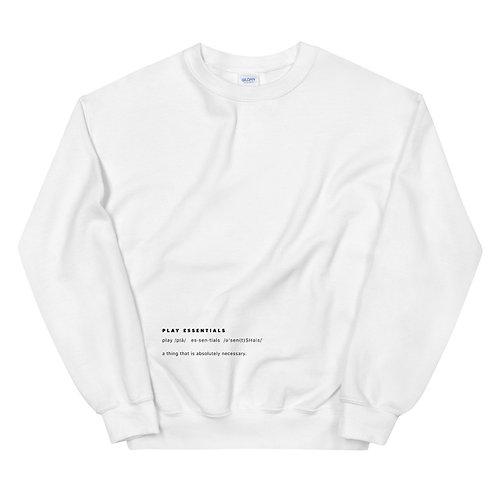 """""""Play Essentials"""" Definition Sweatshirt - White"""
