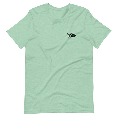 Play Essential Embroidered Tee - Heather Mint