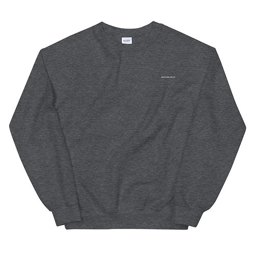 Faction Play Embroidered Sweatshirt - Dark Gray