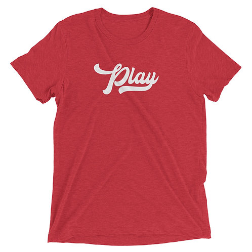 Play Collection Tee - Red Fleck Tri Blend