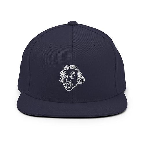 Einstein Head Snapback Hat - Navy