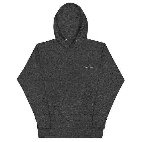 Embroidered Play Forever Hoodie - Charcoal