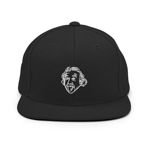 Einstein Head Snapback Hat - Black