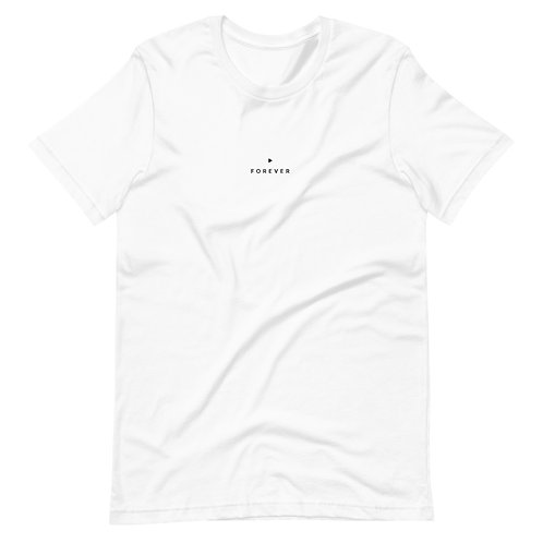 Embroidered Forever Play Tee -White