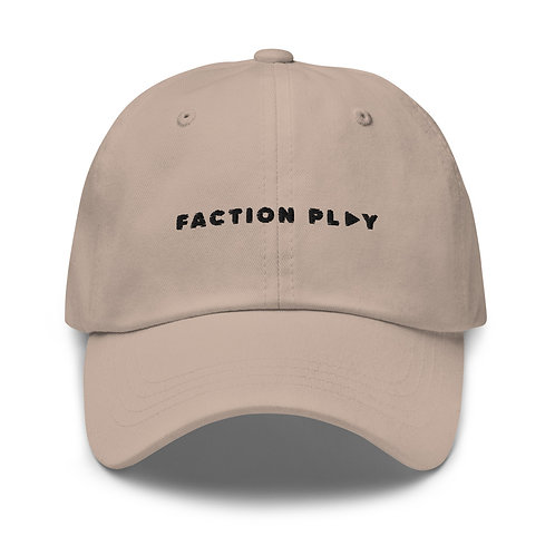 Faction Play Dad hat - Stone