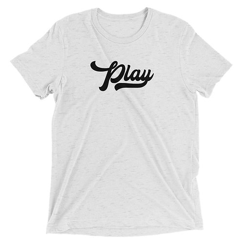 Play Collection Tee - White Fleck Tri Blend