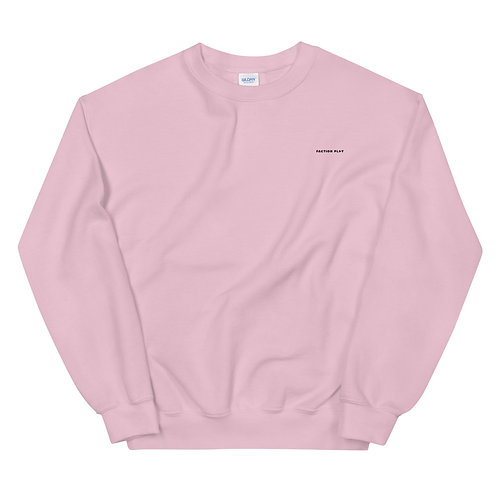 Faction Play Embroidered Sweatshirt - Pink