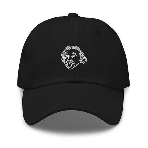 Einstein Head Dad Hat - Black