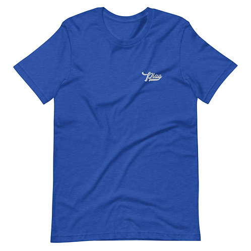 Play Essential Embroidered Tee - Royal Heather