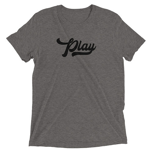 Play Collection Tee - Gray Fleck Tri Blend