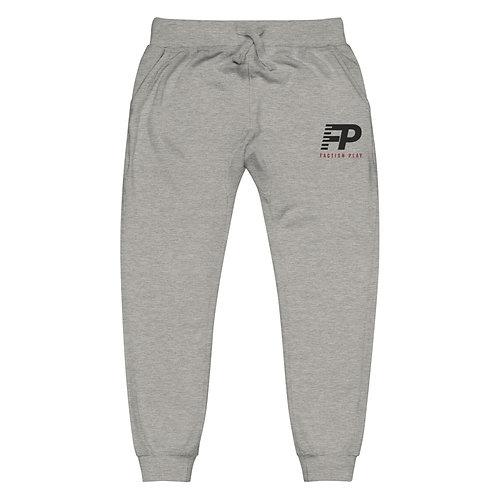 FP Logo Unisex Fleece Sweatpants - Gray