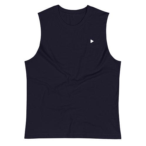 Play Symbol Muscle Shirt - Navy
