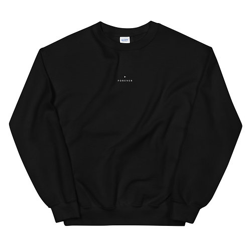 Embroidered Forever Play Sweatshirt - Black