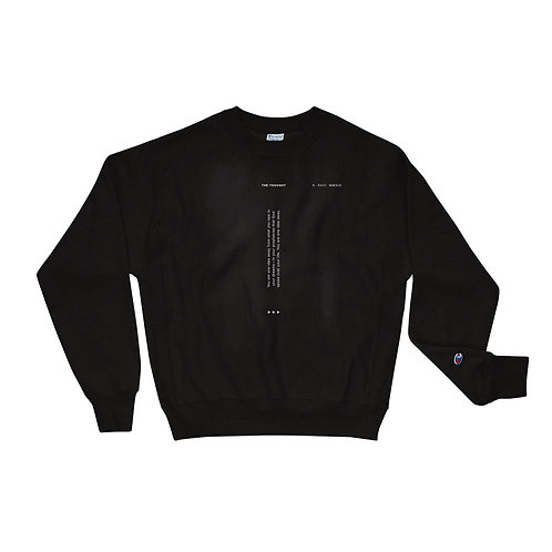 """The Thought"" Men's Champion Sweatshirt - Black"