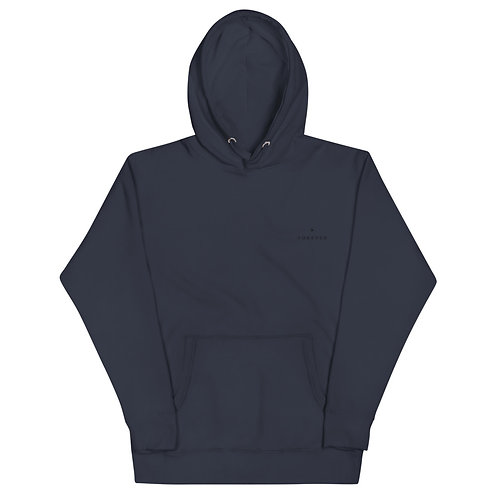 Embroidered Play Forever Hoodie - Navy