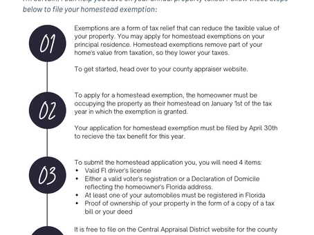 How to File for FL Homestead Tax Exemption