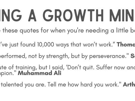 Keeping a Growth Mindset