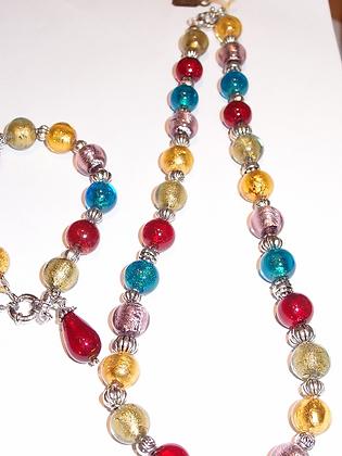 Murano glass necklet