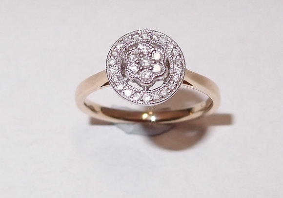 9ct  Halo style ring