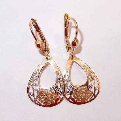 9ct two tone earrings