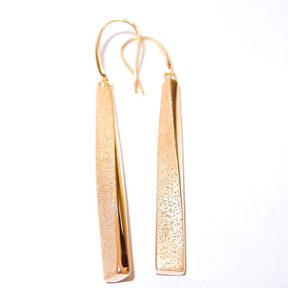 Sterling silver with gold embellishment earrings